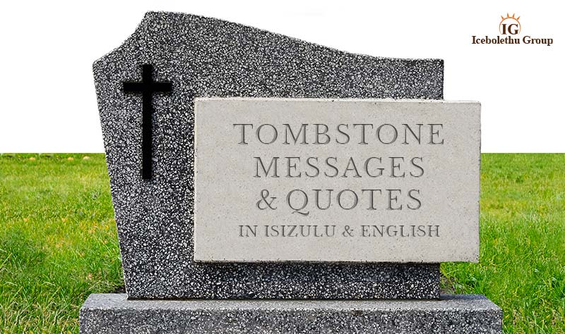 Tombstone Messages Engraved