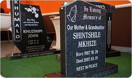 Funeral Parlour Zulu Tombstones